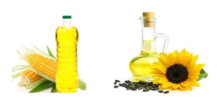 Сравнение кукурузного и подсолнечного масла
