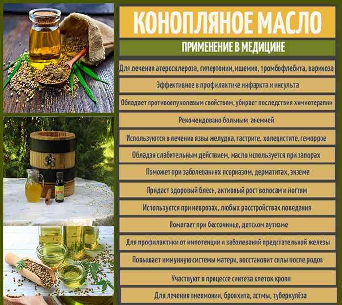 Конопляное масло в лечебных целях