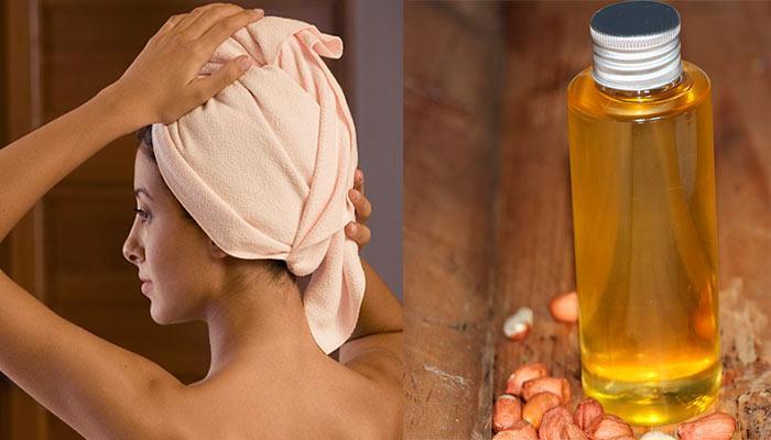 Маска для волос с маслом арахиса