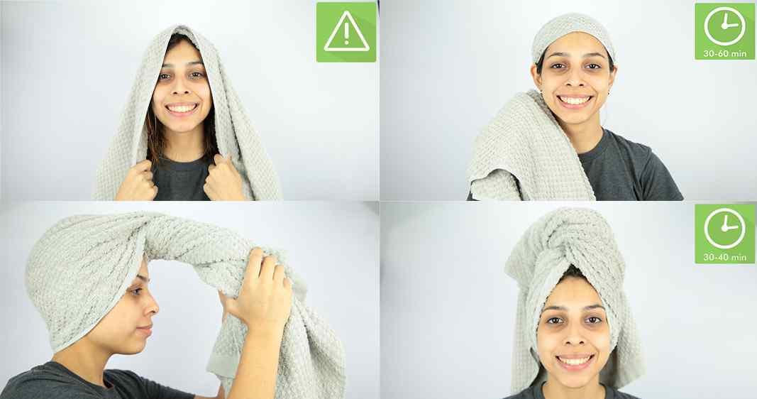 Голову в полотенце