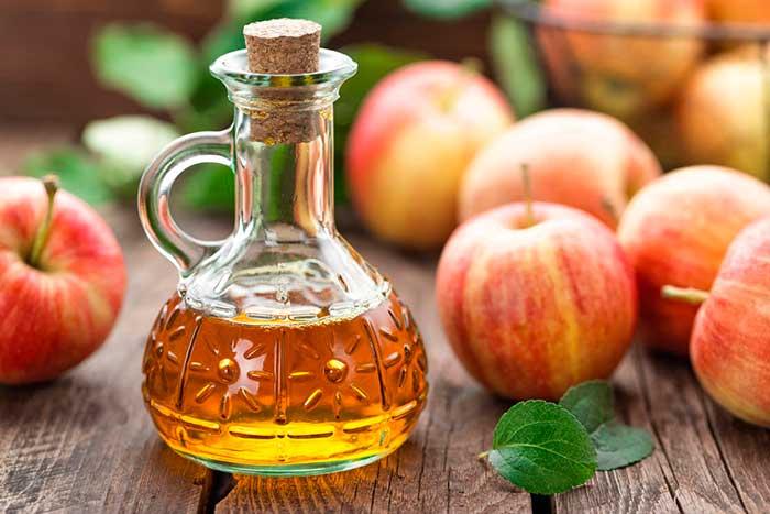 Яблочный уксус и масло
