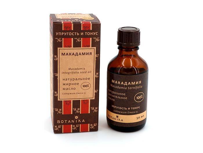 Применение масла макадамии