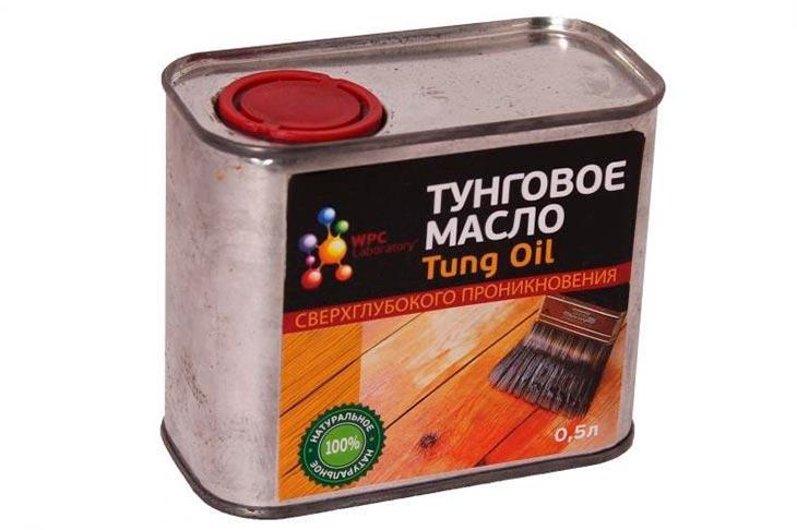 Использование тунгового масла
