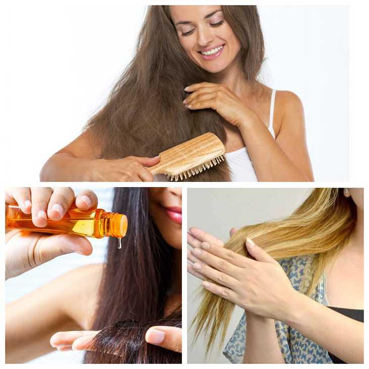 Наносим масло репейника на волосы