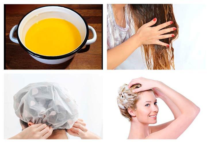 Масляный уход за волосами